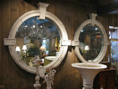 Round Window Frames with Mirrors